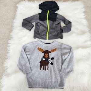 Gymboree and Joe Fresh bundle of two 3T sweaters
